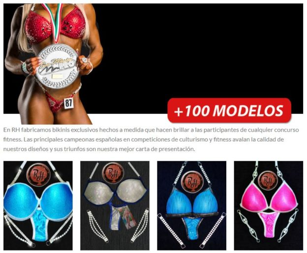 El catálogo bikini fitness en WordPress de RH