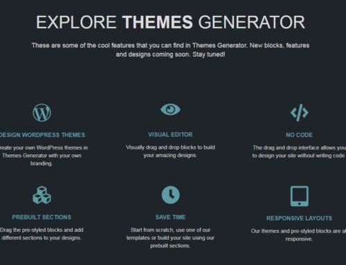 Editor de Temas (plantillas) WordPress: ThemesGenerator