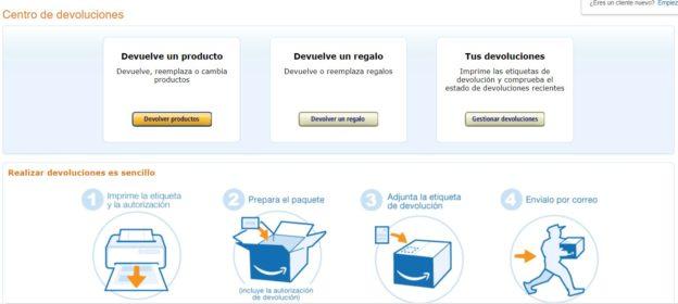 Cómo devolver un regalo a Amazon