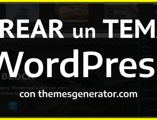 WordPress desde cero | Diseñar paso a paso una tema para WordPress sin código